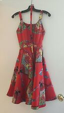 Trashy Diva Red Fans Anne EUC Size 2 Worn Once!