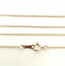 50cm Genuine 9ct 9K 375 Solid Yellow Gold Fine Diamond Cut Rope Chain Necklace