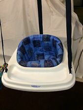 Graco Jumping Bouncing Swing Baby Kicks To Make Bounce Doorframe Blue Animals