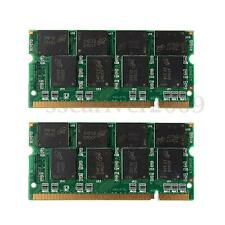 2GB (2x1GB) DDR 333Mhz PC2700 Non-ECC 200 Pin DIMM Laptop Notebook Memory RAM