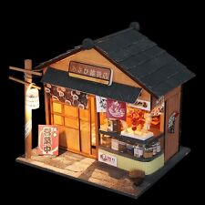 Kit w/ LED Wooden Dollhouse Miniature DIY Chritsmas Gift the grocery store 025