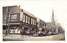 Birmingham MI West Maple Ave. Shain's Drug Store Fronts RPPC Postcard