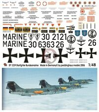 Peddinghaus 1/48 F-104 Starfighter Bundesmarine Modern German Navy Markings 1239