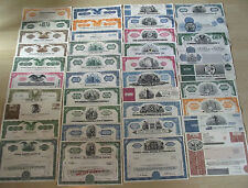 EBAY'S #1 COLLECTION OF VINTAGE US STOCKS 100 Diff Rare Capitalist Gems CV $2000
