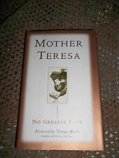 MOTHER TERESA NO GREATER LOVE ~ SIGNED BY THEN BISHOP OF NASHVILLE