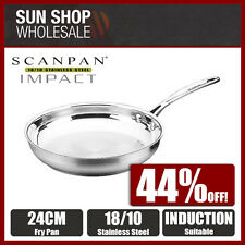 100% Genuine! SCANPAN Impact 18/10 Stainless Steel 24cm Frypan! RRP $83.95!