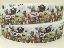 "1 Meter Of NIGHTMARE BEFORE XMAS 1"" Wide Grosgrain Ribbon"