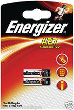Lot de 2 piles Energizer 12 V Volts A27 27A MN27 GP27A E27A EL812 L828 A27BP