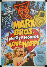 Marx Brothers im Theater Filmposter A1 Love Happy Harpo Marilyn Monroe Chantrell