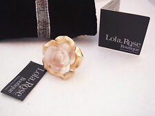 Lola Rose semi precious gemstone carved flower ring size N-O