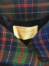Pendleton Double Breasted Multi Plaid Wool Full Coat Sz S/M BEAUTIFUL-QUALITY