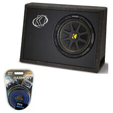 "Kicker TC10 Loaded 10"" 4-Ohm Comp Sub Subwoofer Package 600-Watt Amplifier Kit"