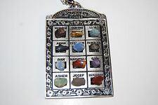 Large High Priest Breastplate Pendant Necklace 12 Tribes Stones Israel Jewish