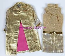 Vtg INTRIGUE #1470 Gold & Pink Barbie Doll Dress & Jacket