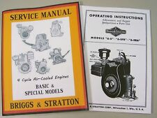 BRIGGS STRATTON 6S 6SFB 6SR6 SERVICE REPAIR OWNER OPERATOR OPERATING PART MANUAL