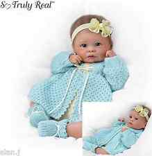 Ashton Drake baby Doll Sweetly Snuggled Lifelike Weighted poseable Newborn