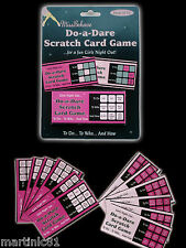12 DO-A-DARE SCRATCH CARD GAME HENS NIGHT PARTY DARE HEN PARTY GAMES