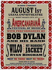 BOB DYLAN AND HIS BAND AMERICANARAMA USANA AMPHITHEATRE WEST VALLEY CITY UT
