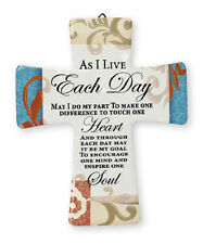 PORCELAIN CROSS - AS I LIVE EACH DAY MAY I DO MY PART - OTHERS ONES ARE LISTED