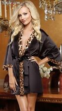 Leopard-lady-lingerie-sexy-pajamas-bathrobe Mini Dress For S-M