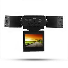 180 Degree Rotated Dual Two Lens Car DVR Camera Video Vehicle Recorder Dash Cam