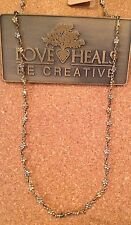 "Love Heals 18"" Wire Wrap White/Yellow Bronze Daisy Necklace NEW retails $89.00"