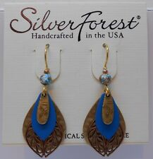 Silver Forest Beautiful Four Layer Four Color Tone & Filigree Hook Earrings