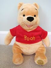 "NEW Disney Store Winnie the Pooh Plush Stuffed Bear Classic Toy 14"" Seated  NWT"