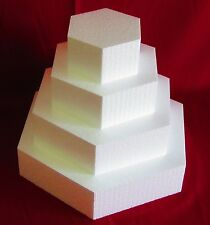 "New Foam Cake Dummy set 4 pc Hexagon 6"" to 15"" at 3"" Thick EPS Foam"