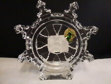 Waterford Crystal SHIP'S WHEEL Paperweight/Nautical Sculpture Made  Ireland NEW