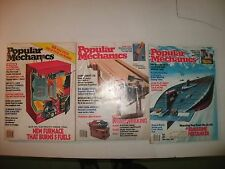 1979 1981 1982 POPULAR MECHANICS MAGAZINES VINTAGE ANTIQUE ADVERTISING 3 BOOKS