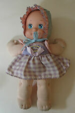 Beautiful Vintage Mattel 1990 Magic Nursery Baby Doll toddler with Bonnet
