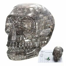 3D Light Crystal Skull Puzzle With Flashing Light 50pcs Jigsaw DIY Blocks