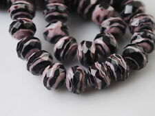 10pcs Stripe Glass Lampwork Beads Spacer Craft Jewelry Findings Pendants12mm