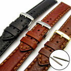 Napoli Luxury Heavy Stitched Padded Leather Watch Band Strap 18mm 20mm 22mm 24mm