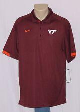 Virginia Tech Hokies Nike Dri Fit Training Performance Polo Shirt Dark Maroon S