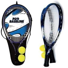 Pro Baseline 2 Player Aluminum Tennis Racket Game Toy Set With Ball & Carry Case