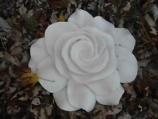 "Latex w/ plastic backup rose flower mold plaster concrete mould 13"" x 12"" x 2"""