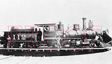 Denver, South Park & Pacific (DSP&P) Engine 112 on Como turntable in 1880s -8x10