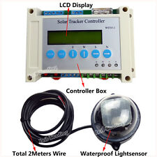 LCD Display Solar Tracker Tracking Sun Power Dual Axis Controller + Light Sensor