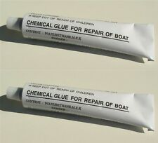 2 x INFLATABLE BOAT REPAIR PVC GLUE 30g TUBE WATERCRAFT PARTS ACCESSORIES
