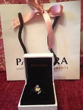 NEW Spring 2016 Disney Pandora White Rabbit Alice In Wonderland W Box&bag