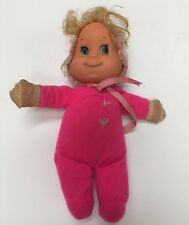 "Vintage 1970 Mattel Baby Beans Itsy Bitsy Doll 8"" Bright Neon Pink"