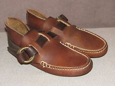 Coombs 1830 Brown Leather Handsewn Ring Boot Moccasin Shoes Men's Size 9