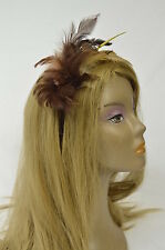 Bebe headband hair accessories brown feathers