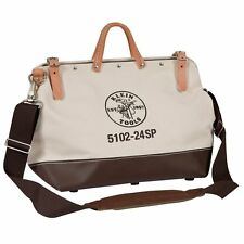 """Klein Tools 5102-24SP Deluxe Canvas Tool Bag, 24"""""""