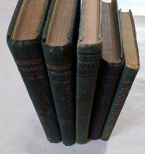 LOT OF 5 ANTIQUE OLD BOOKS GREEN SET 1907 -1938 DECORATOR SHABBY CHIC DECORATIVE