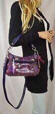 NWOT COACH LEATHERWORKS Poppy Sequin Tartan Groovy Convertible CrossBody Berry