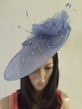 NIGEL RAYMENT Couture CORNFLOWER BLUE DISC FASCINATOR WEDDING ASCOT OCCASION HAT