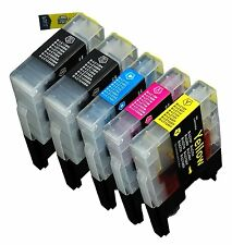 5 NON-OEM INK BROTHER LC-71 LC-75 MFC-J5910DW, MFC-J6510DW, MFC-J6710DW J6910DW